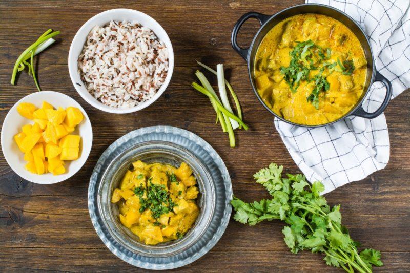 Recetas Con Mango y curry