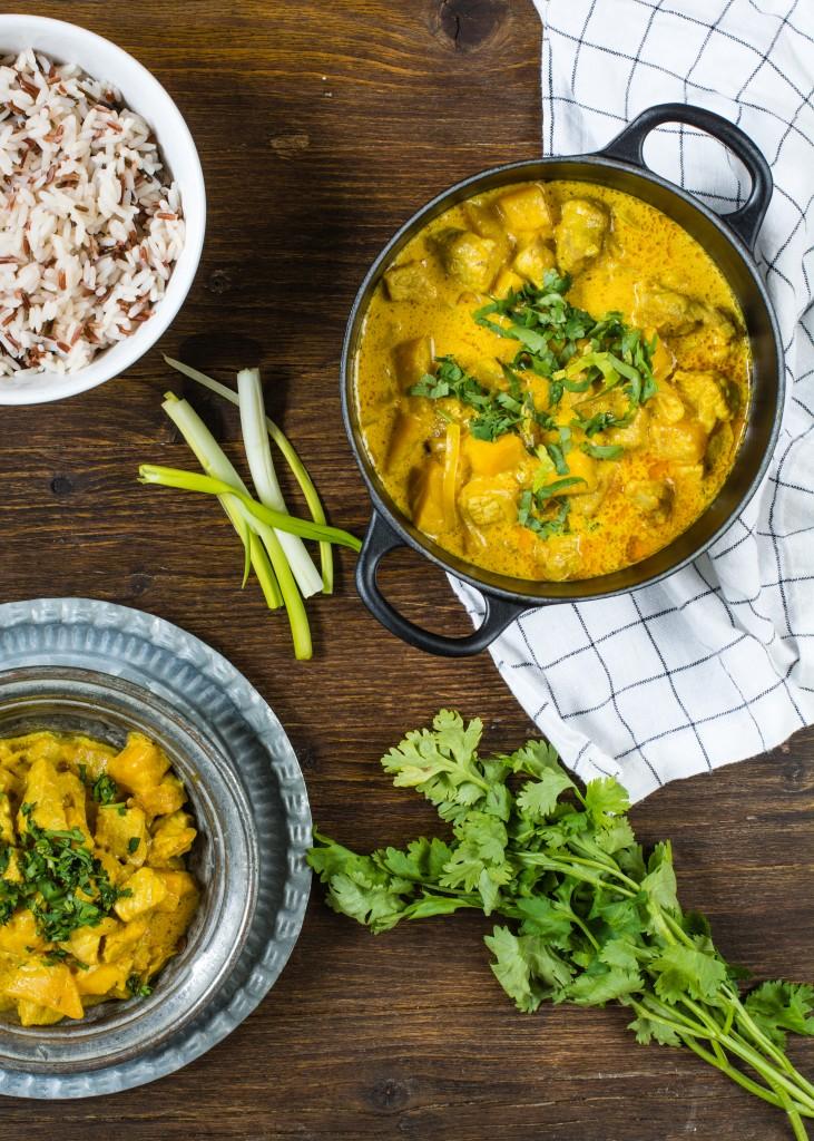 Receta Con Cerdo al Curry con Mango