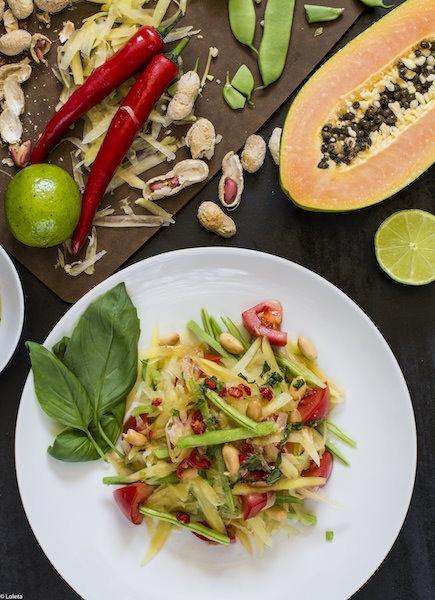 Ensalada tailandesa de papaya verde 2