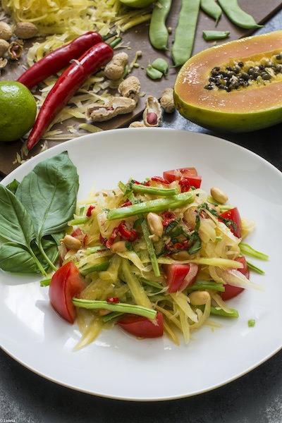 Ensalada tailandesa de papaya verde